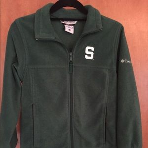 Boys Youth Colombia fleece jacket Michigan State